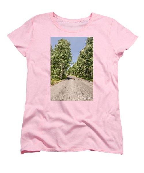 Off The Beaten Path Women's T-Shirt (Standard Cut) by Sue Smith