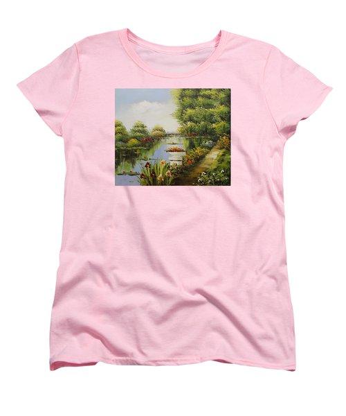 Oil Msc 038 Women's T-Shirt (Standard Cut) by Mario Sergio Calzi