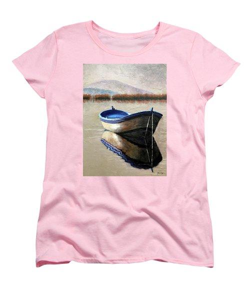 Old Boat Women's T-Shirt (Standard Cut) by Janet King