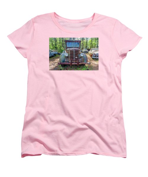 Old Car Smile Women's T-Shirt (Standard Cut) by Menachem Ganon
