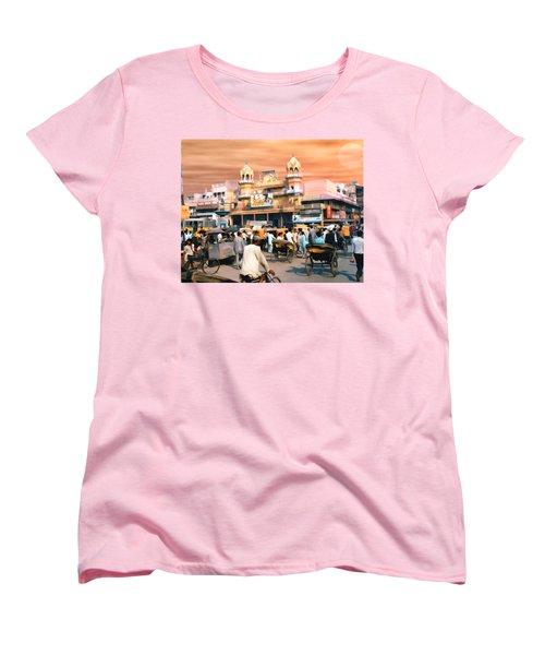 Old Dehli Women's T-Shirt (Standard Cut) by Kurt Van Wagner