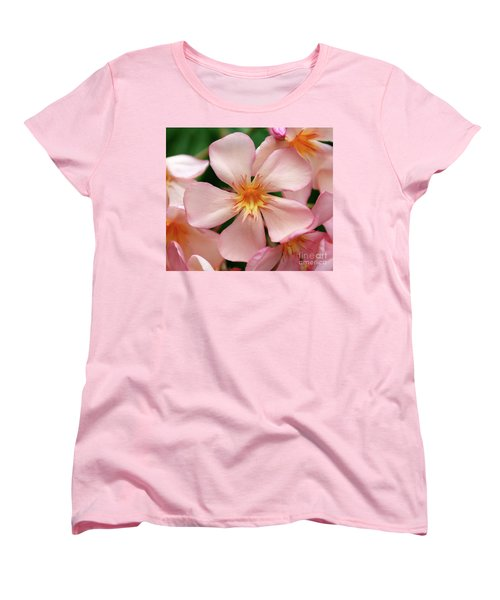 Women's T-Shirt (Standard Cut) featuring the photograph Oleander Dr. Ragioneri 1 by Wilhelm Hufnagl