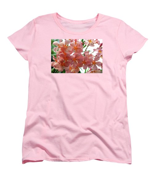 Women's T-Shirt (Standard Cut) featuring the photograph Oleander Dr. Ragioneri 4 by Wilhelm Hufnagl