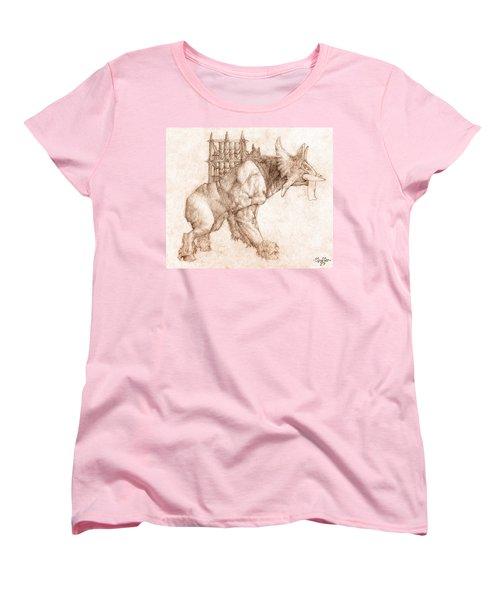 Oliphaunt Women's T-Shirt (Standard Cut) by Curtiss Shaffer