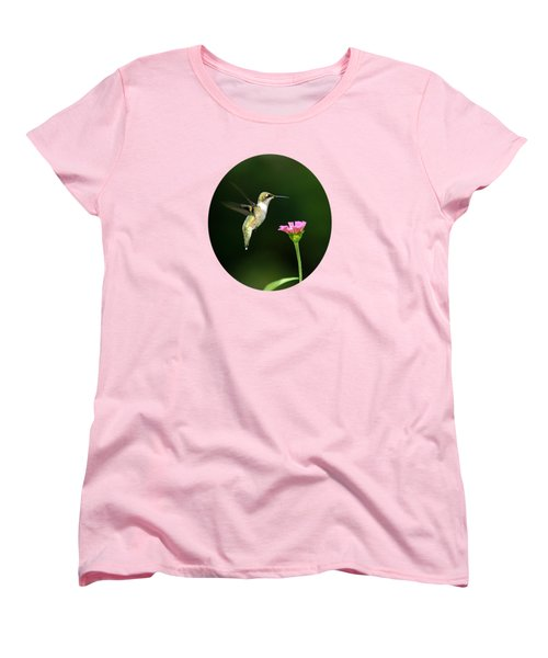 One Hummingbird Women's T-Shirt (Standard Cut) by Christina Rollo