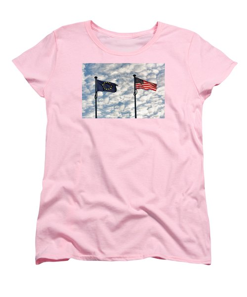 One World Women's T-Shirt (Standard Cut) by Semmick Photo