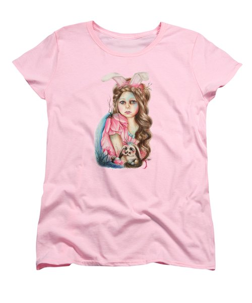 Only Friend In The World - Bunny Women's T-Shirt (Standard Cut) by Sheena Pike
