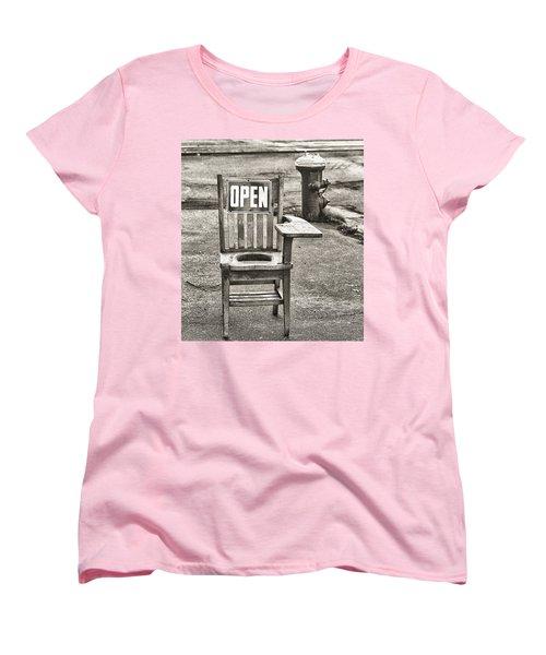 Open Women's T-Shirt (Standard Cut) by Jeffrey Jensen