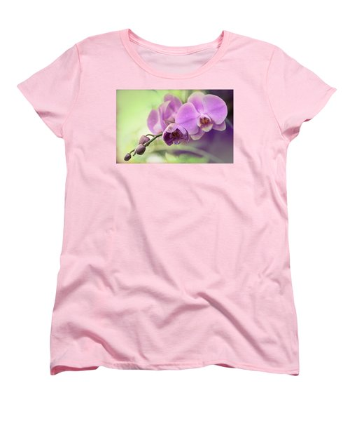 Women's T-Shirt (Standard Cut) featuring the photograph Orchids by Cathy Donohoue
