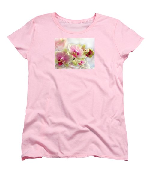 Orchids Women's T-Shirt (Standard Cut) by Morag Bates