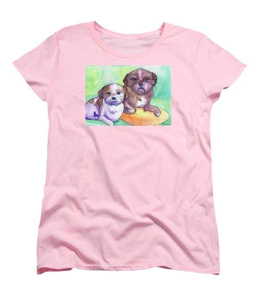 Oscar And Max Women's T-Shirt (Standard Cut) by Whitney Morton