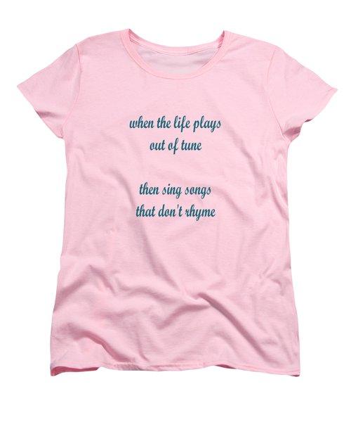Out Of Tune Pink Women's T-Shirt (Standard Cut) by Keshava Shukla