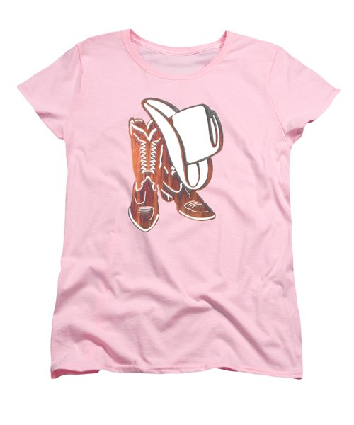 Out West  Women's T-Shirt (Standard Cut) by Herb Strobino