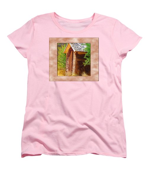 Women's T-Shirt (Standard Cut) featuring the photograph Outhouse 1 by Susan Kinney