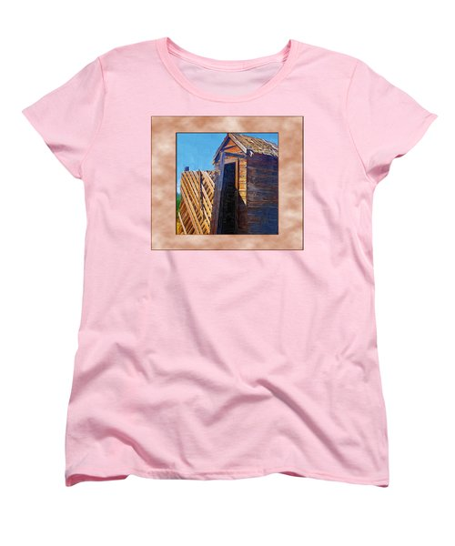 Women's T-Shirt (Standard Cut) featuring the photograph Outhouse 2 by Susan Kinney