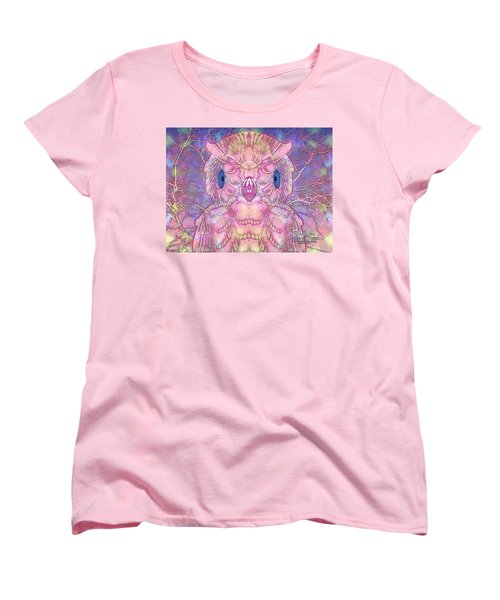 Women's T-Shirt (Standard Cut) featuring the digital art Owl by Barbara Tristan