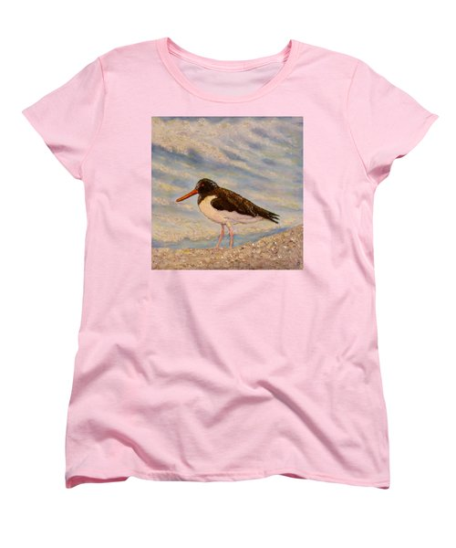 Women's T-Shirt (Standard Cut) featuring the painting Oyster Catcher by Joe Bergholm