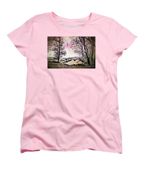 Women's T-Shirt (Standard Cut) featuring the photograph Painted Trees by Judy Wolinsky