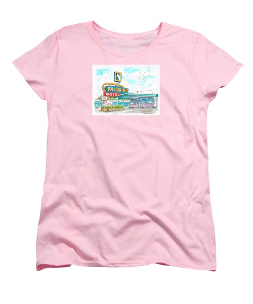Palomino Motel In Route 66, Tucumcari, New Mexico Women's T-Shirt (Standard Cut) by Carlos G Groppa
