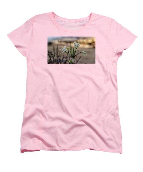 Women's T-Shirt (Standard Cut) featuring the photograph Pancratium Maritimum L. by Uri Baruch