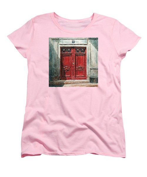 Parisian Door No.9 Women's T-Shirt (Standard Cut) by Joey Agbayani