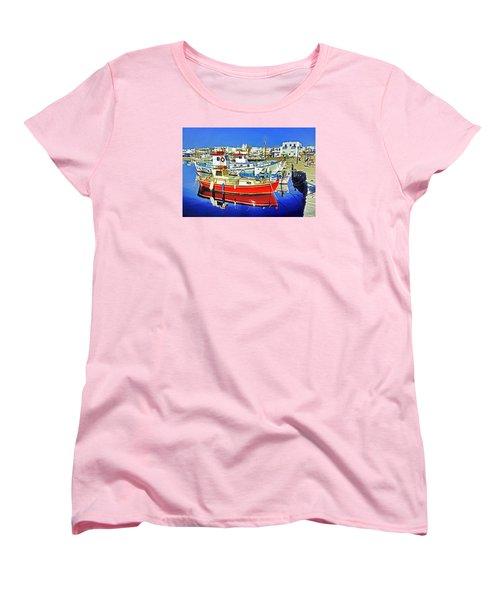 Paros Fishing Boats Women's T-Shirt (Standard Cut) by Dennis Cox WorldViews