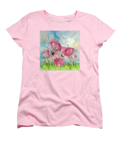 Party In The Posies Women's T-Shirt (Standard Cut) by Diana Boyd
