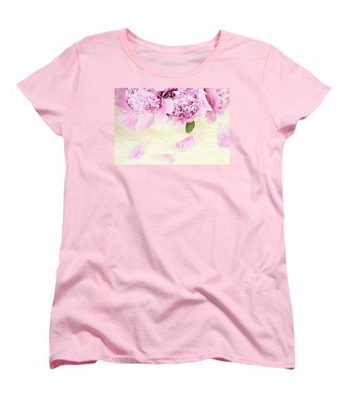 Pastel Pink Peonies  Women's T-Shirt (Standard Cut)