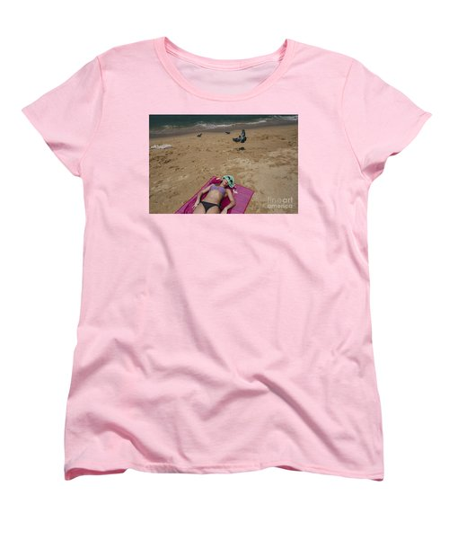 Women's T-Shirt (Standard Cut) featuring the photograph Pattaya Beach by Setsiri Silapasuwanchai