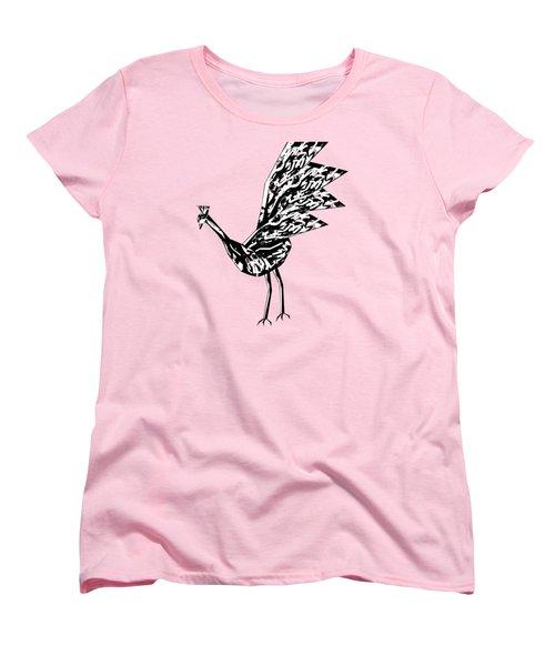 Peacock Dance B Women's T-Shirt (Standard Cut) by Thecla Correya