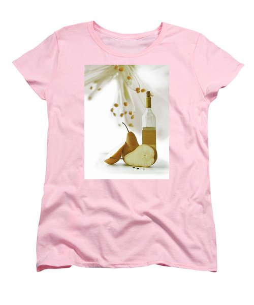 Women's T-Shirt (Standard Cut) featuring the photograph Pears Blossom by Ann Lauwers