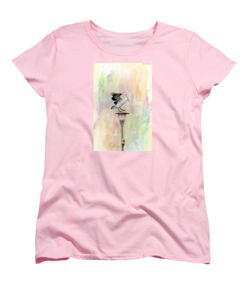 Women's T-Shirt (Standard Cut) featuring the photograph Pelican Beauty 000004 by Kevin Chippindall