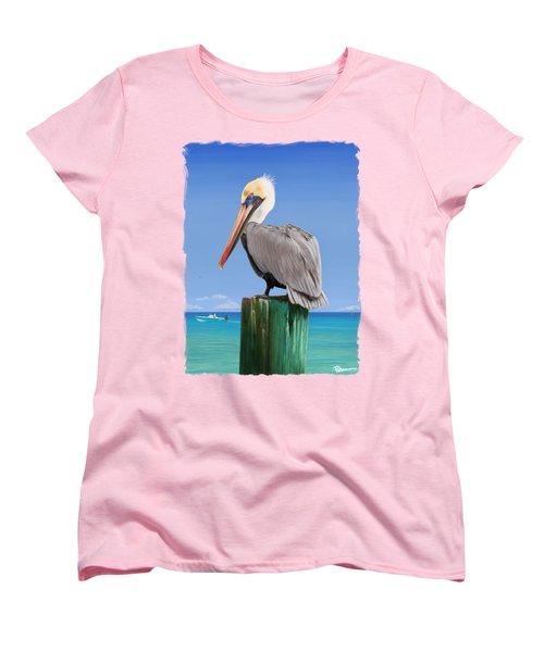 Pelicans Post Women's T-Shirt (Standard Cut) by Kevin Putman
