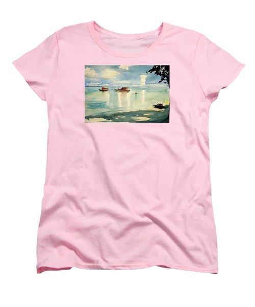 Penang Beach Women's T-Shirt (Standard Cut) by Tom Simmons