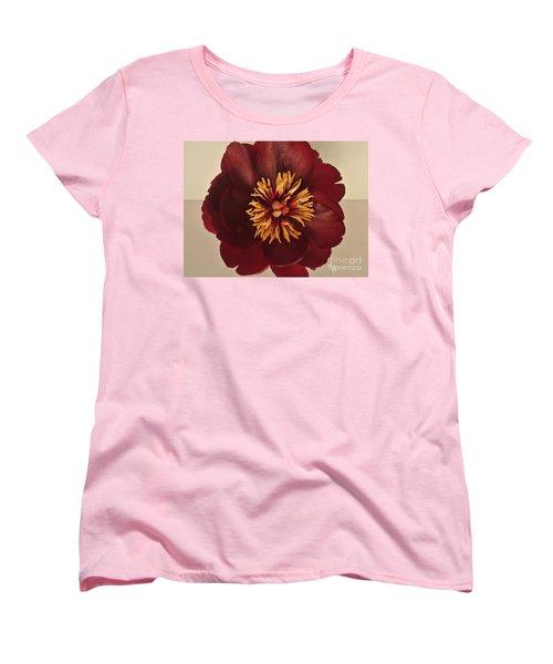 Penny Peony Women's T-Shirt (Standard Cut) by Marsha Heiken
