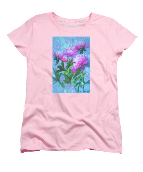 Peonies #3 Women's T-Shirt (Standard Cut) by John Selmer Sr