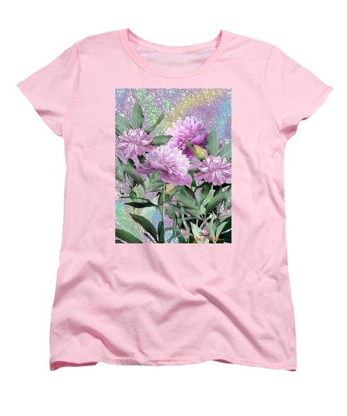 Peonies Women's T-Shirt (Standard Cut) by John Selmer Sr
