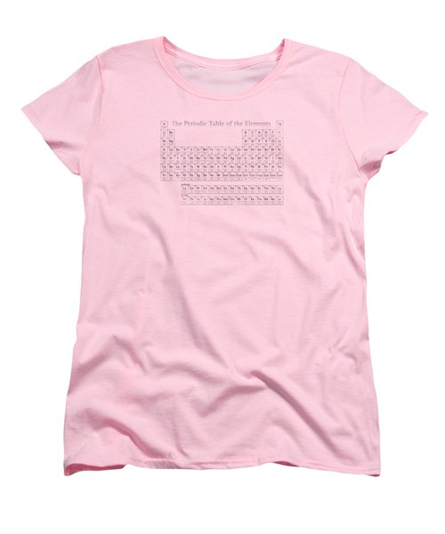 Periodic Table Of The Elements Women's T-Shirt (Standard Cut) by Design Turnpike