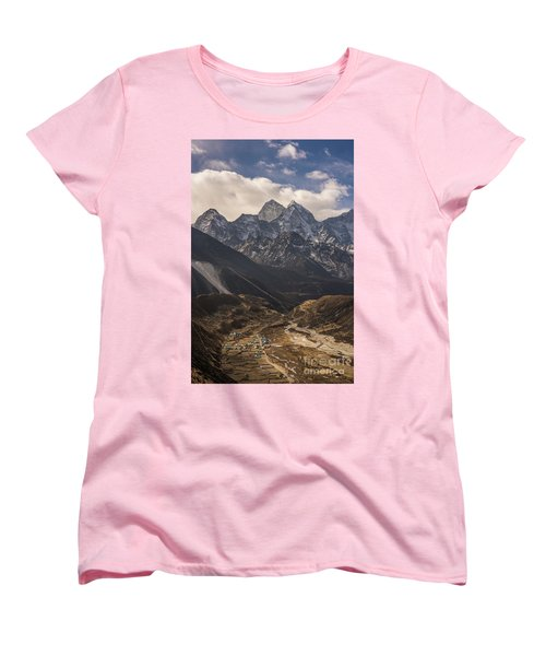 Women's T-Shirt (Standard Cut) featuring the photograph Pheriche In The Valley by Mike Reid
