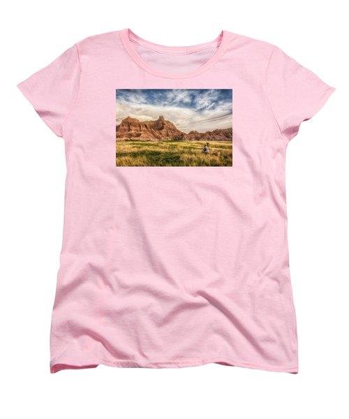 Photographer Waiting For The Badlands Light Women's T-Shirt (Standard Cut)