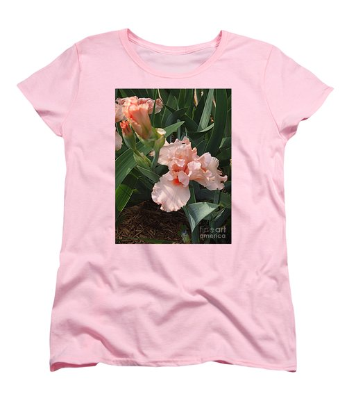 Women's T-Shirt (Standard Cut) featuring the photograph Picture Peach by Nancy Kane Chapman