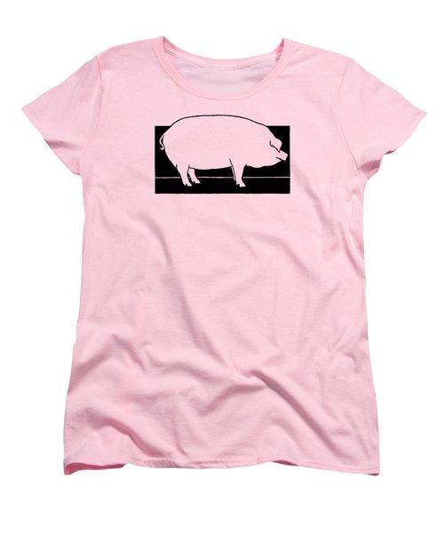 Pig - T Shirt Pig Women's T-Shirt (Standard Cut) by rd Erickson