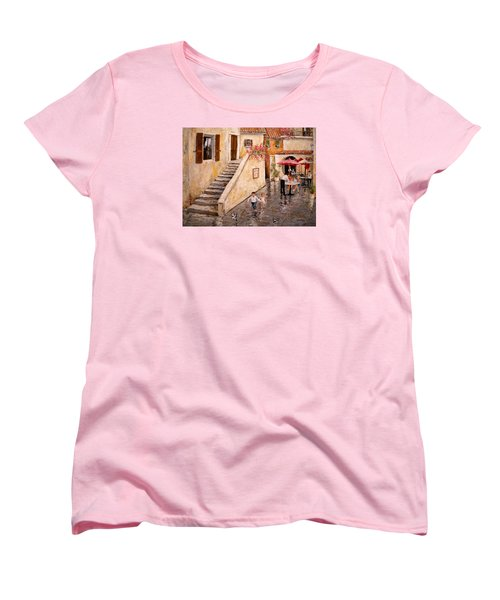 Pigeon Pigeon Pigeon Pie Women's T-Shirt (Standard Cut) by Alan Lakin
