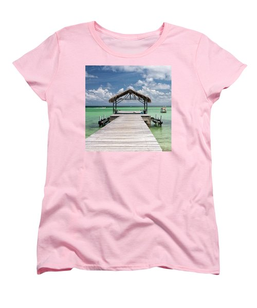 Pigeon Point, Tobago#pigeonpoint Women's T-Shirt (Standard Cut) by John Edwards