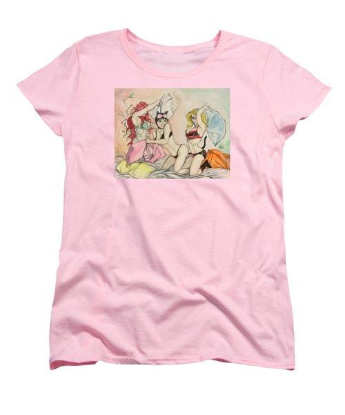 Pillow Fight Women's T-Shirt (Standard Cut) by Jimmy Adams