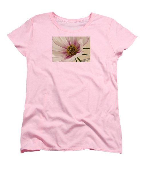 Pink Bi Color Cosmo Macro Women's T-Shirt (Standard Cut) by Sandra Foster