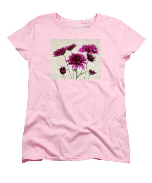Pink Bouquet Women's T-Shirt (Standard Cut) by Judy Vincent