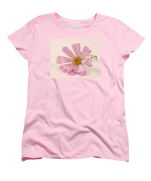 Pink Cosmo - Sea Shell Macro Women's T-Shirt (Standard Cut) by Sandra Foster