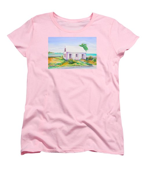 Pink Cottage Women's T-Shirt (Standard Cut) by Patricia Piffath