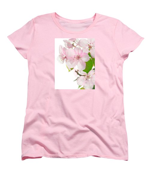 Pink Crabapple Blissoms Women's T-Shirt (Standard Cut) by David Perry Lawrence